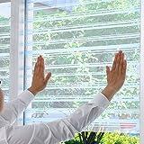 【断熱シート 窓 プチプチ 冷房 暖房 効率アップ 窓用断熱シート】 断熱効果 水貼り断熱シート 6枚 ボーダー柄ブルー(X653-2-S3)