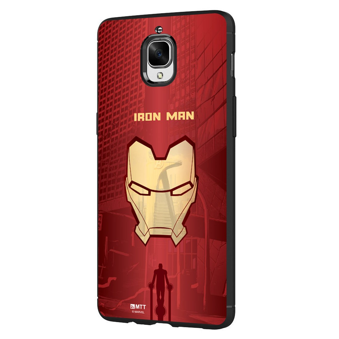 size 40 8acdb c8f39 MTT Marvel Iron Man Officially Licensed Tough Armor Back Case Cover for  OnePlus 3T & 3 (Design64)