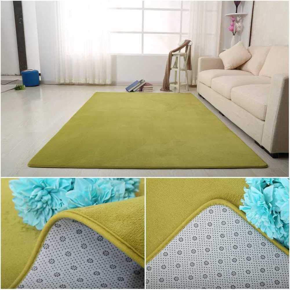 Copper Shaggy Teppich,Einfache Einfarbige Fußmatten Anti-rutsch Staubdicht Bereichs-wolldecke Faltbare Tatami Von mat Für Schlafzimmer Haus Hotel büro-Grün 100x200cm(39x79inch)
