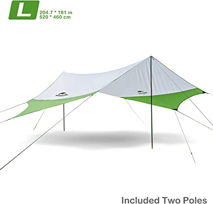 Premium Awning Tent Poles Rings with 2 Pins Fit for Outdoor Camping Travel