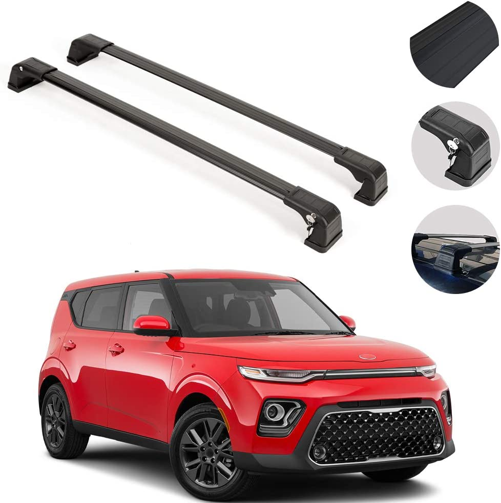 vehicles without sunroof 2014 Kia Soul Roof Cross Bars