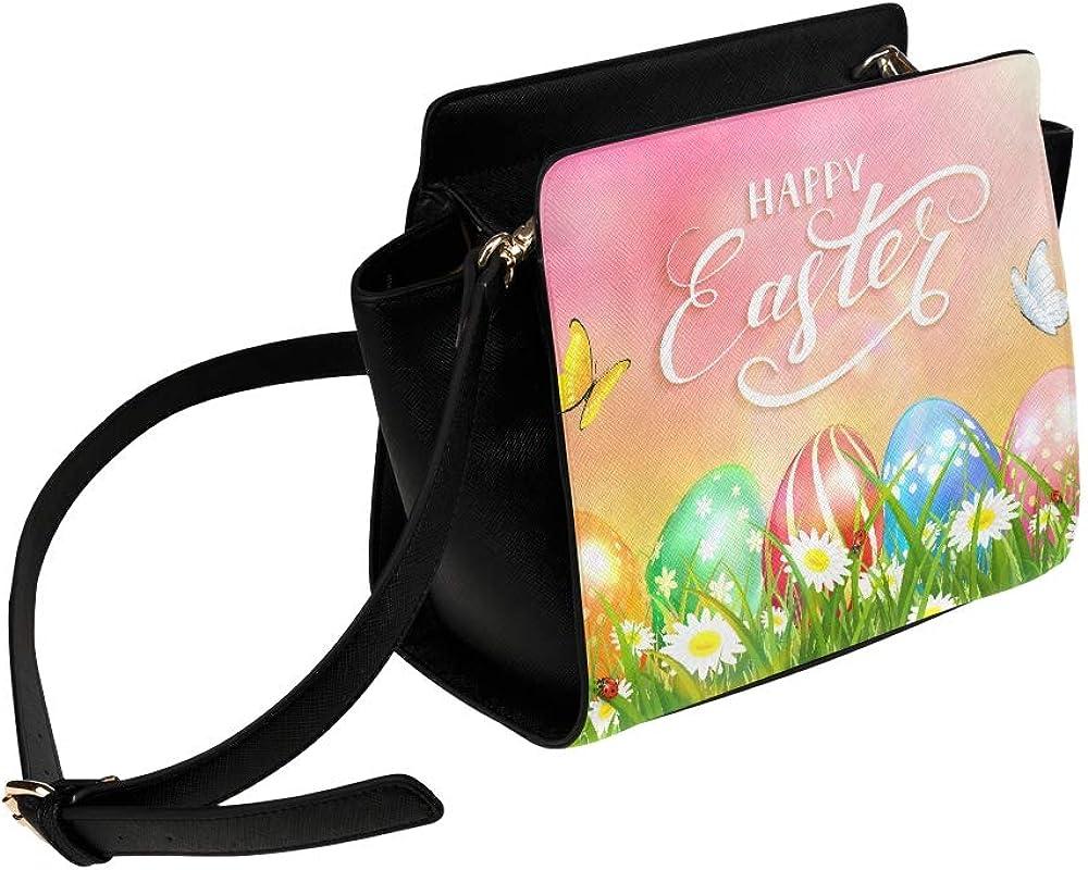 Medium Sized Crossbody Bag Happy Easter Festival Celebration