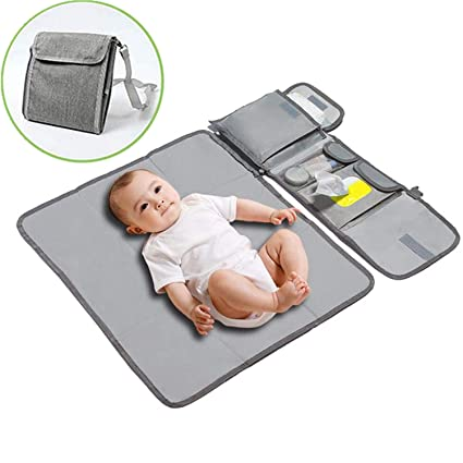 2 Waterproof Diaper Changing Pad,Foldable Infant Urinal Pad Baby Changing Kit for Home Travel Outside Portable Nappy Changing Mat,Travel Changing Mats