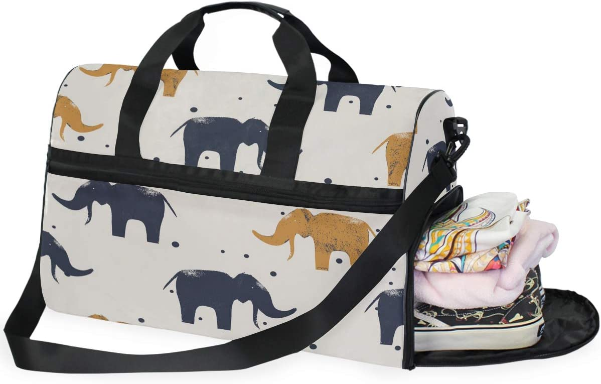 Two Elephants Sports Gym Bag with Shoes Compartment Travel Duffel Bag for Men and Women