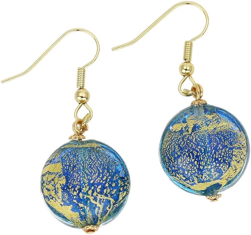GlassOfVenice Murano Glass Ca D/'Oro Earrings Yellow Gold