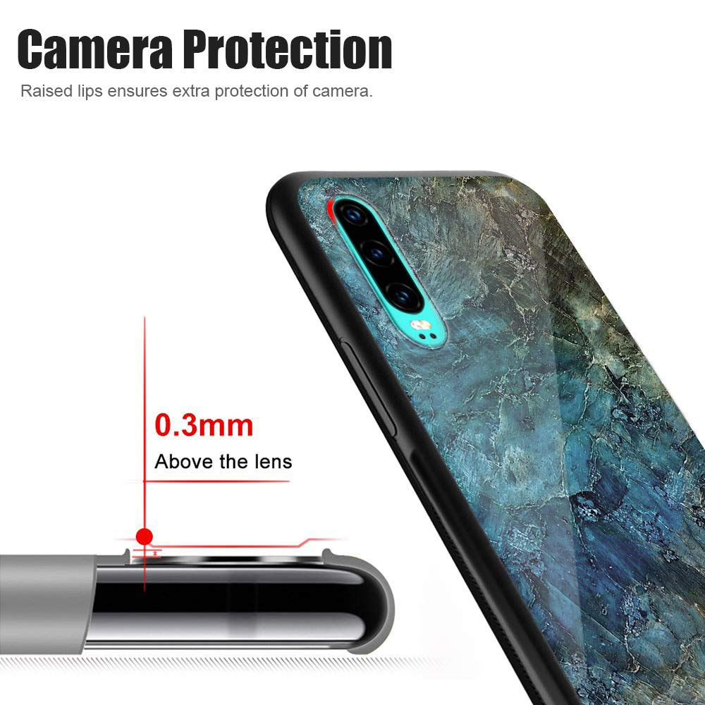 Pacyer Coque Huawei P30 Pro,Coque Huawei P30 Housse Bords Couvrants en Silicone TPU Souple Bumper Transparente Rev/êtement Arri/ère Verre Tremp/é Etui Protection Anti-Rayure pour Huawei P30 Lite