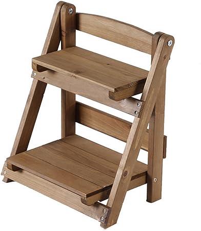 Escalera de madera estante de madera, teckpeak Stands Soporte de escalera escalera de madera pequeña estantería para plantas de interior, madera robusta, 2, 30×17.5×35cm: Amazon.es: Hogar