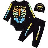 LENSOUS Baby Boy's Skeleton Halloween Costume Long Sleeve Hoodie