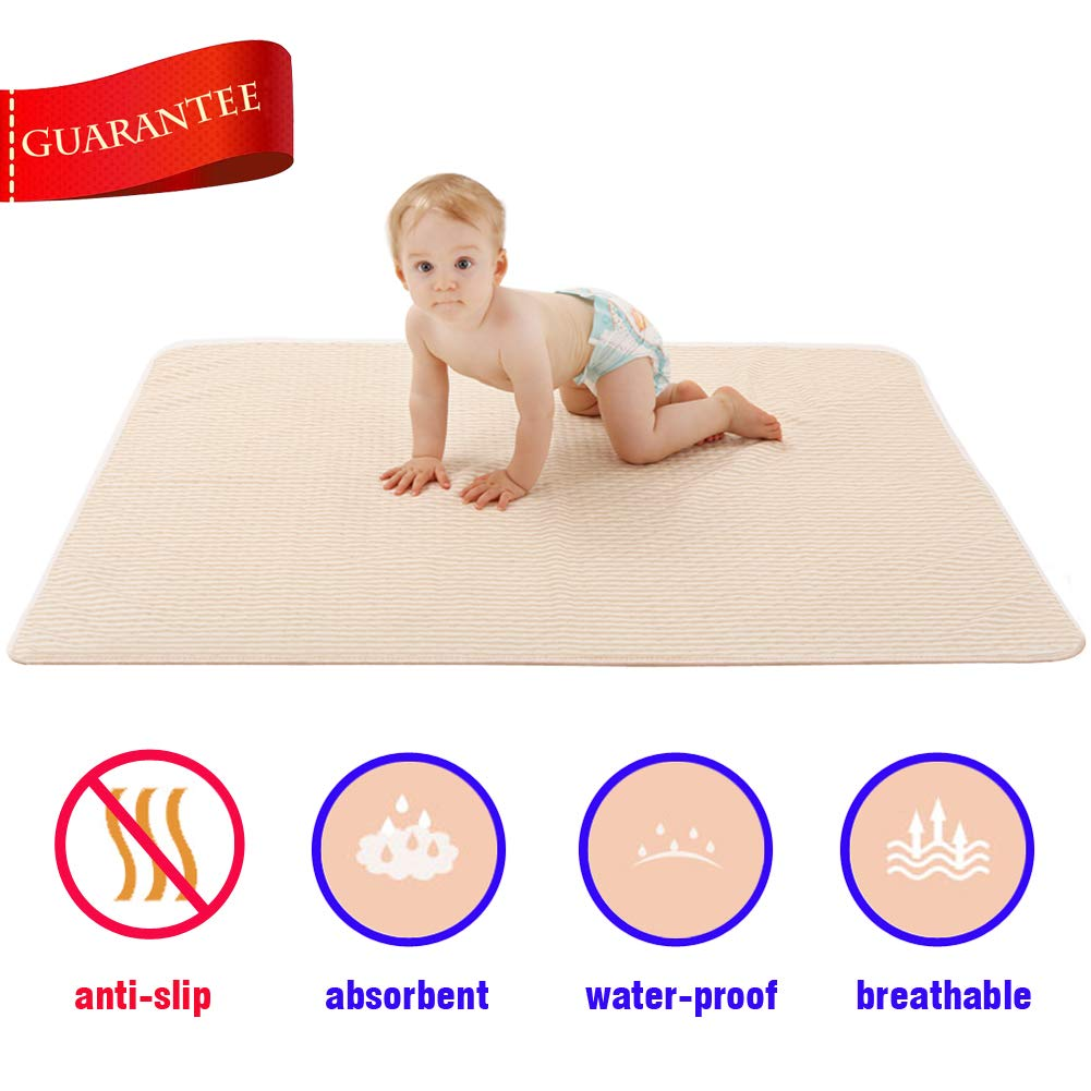 Menstrual Mattress Aunt Flo Period Leak Proof Waterproof Bed Pad Natural Organic Cotton Underpads for Menstruation Women Postpartum Mother Incontinence Pet Baby Kids Crib Pee Pads (27.6''35.4'')