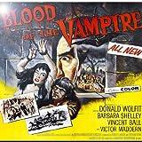 Rikki Knight RK-12intilec-3704 12'' X 12'' Vintage Movie Posters Art Blood of Vampire 4 Design Ceramic Art Tile