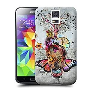 Unique Phone Case Feature artwork Skull,Bird,Butterfly Mixed Pattern Hard Cover for samsung galaxy s5 cases-buythecase