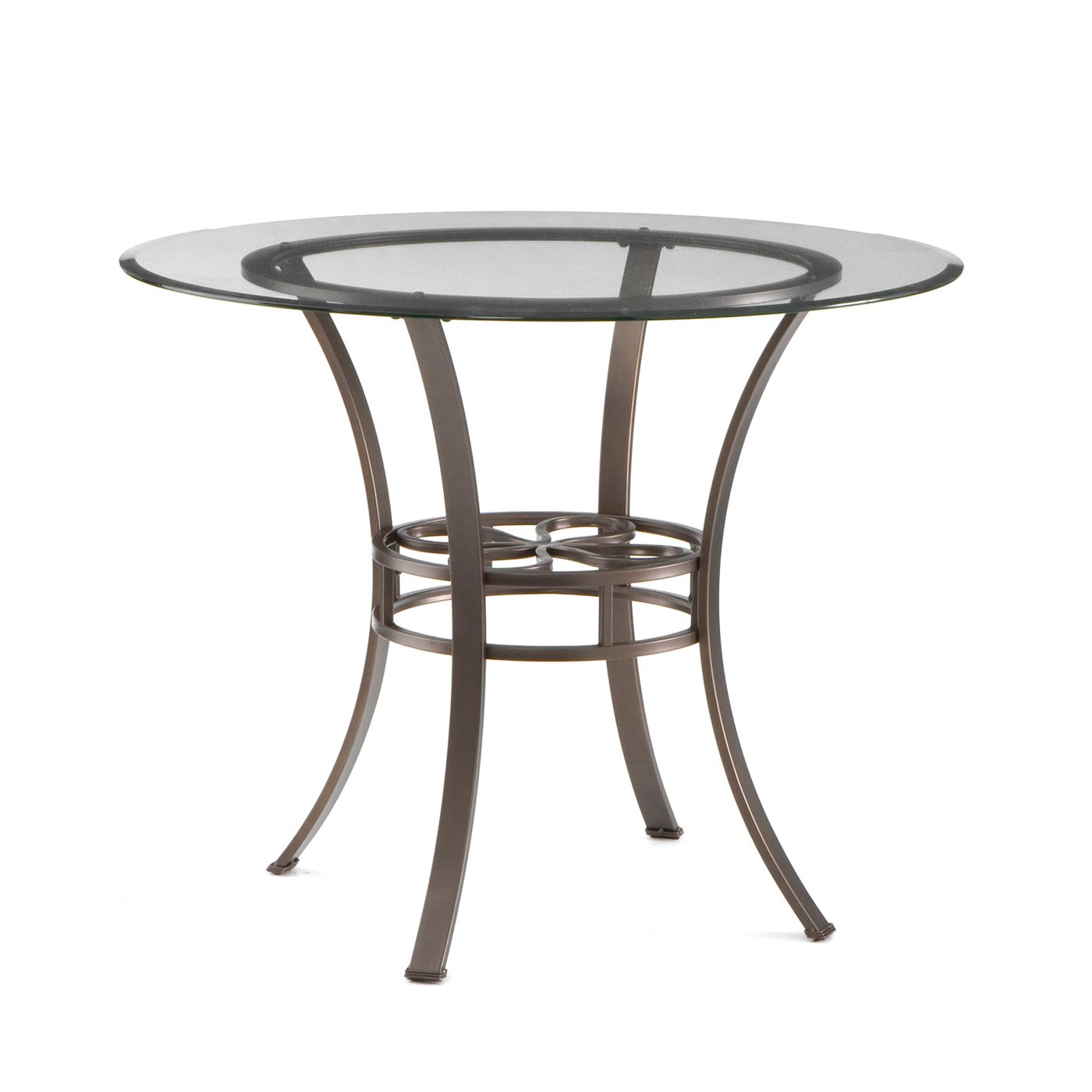 round glass top dining table modern amazoncom round metal glass top dining table tables