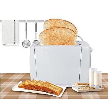 LVRXJP6 Panificadoras del Acero Inoxidable Durable de la Manera del Desayuno tostadora casera automática Antiadherente de