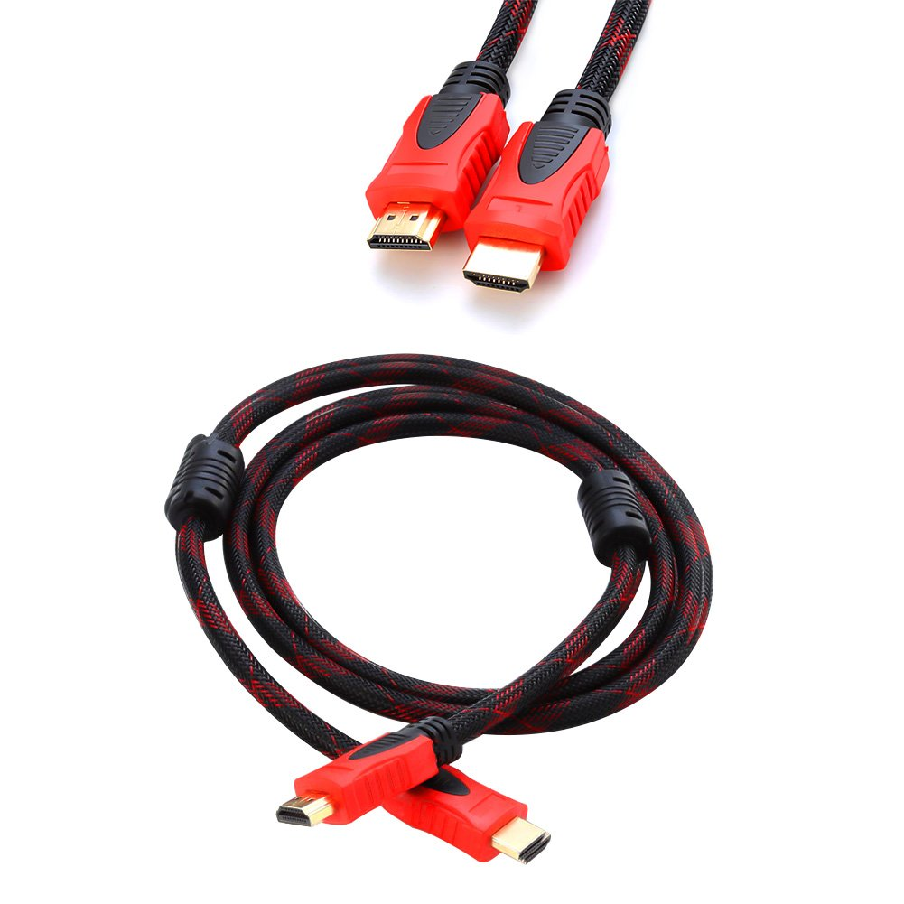 HDMI Cable to HDMI Cable 1.5M High Speed 24K GOLD Plated HDMI Cable 1.4a 10Gbps Compatiable with 3D TV PS4 SKY HD Ultra HD Ethernet Audio PC Laptop Nylon Braided