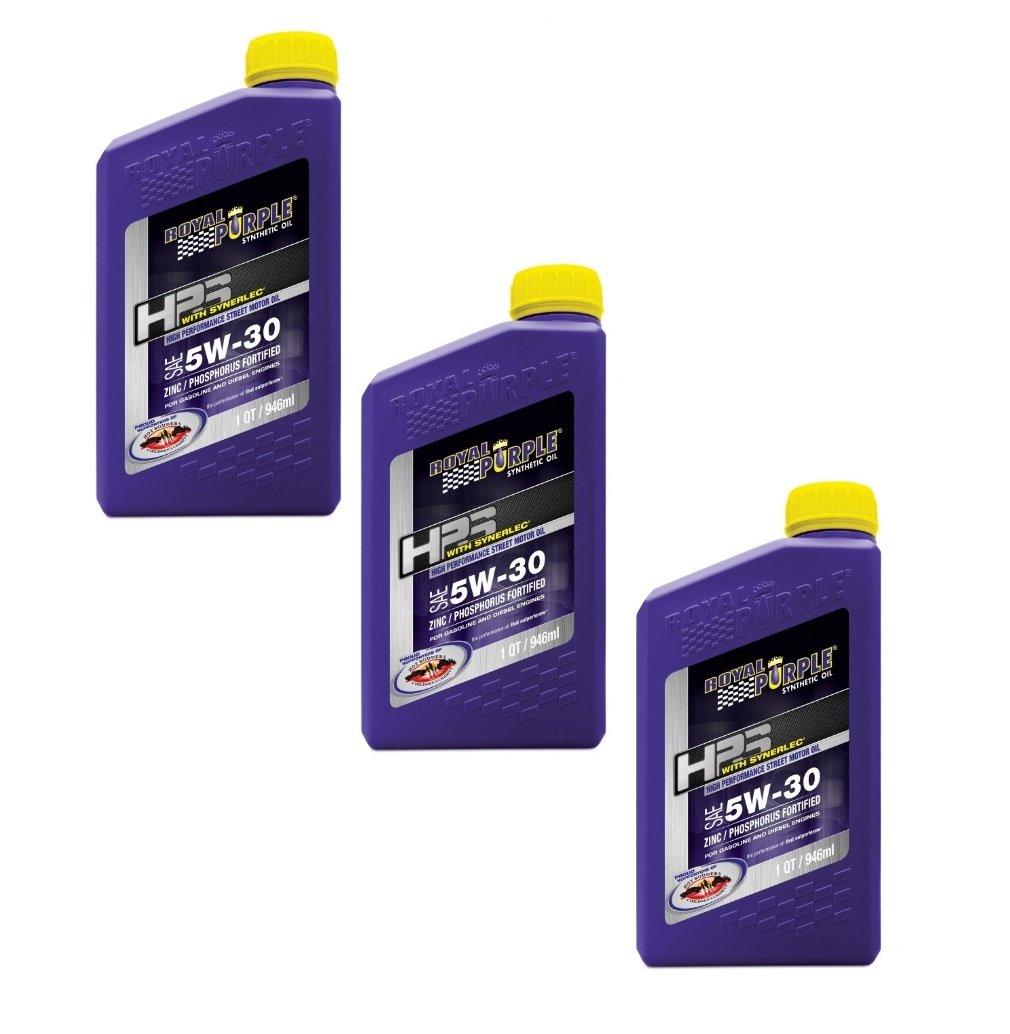 Royal Purple HPS Street Synthetic Motor Oil 5W-30 Case of 3 Quarts