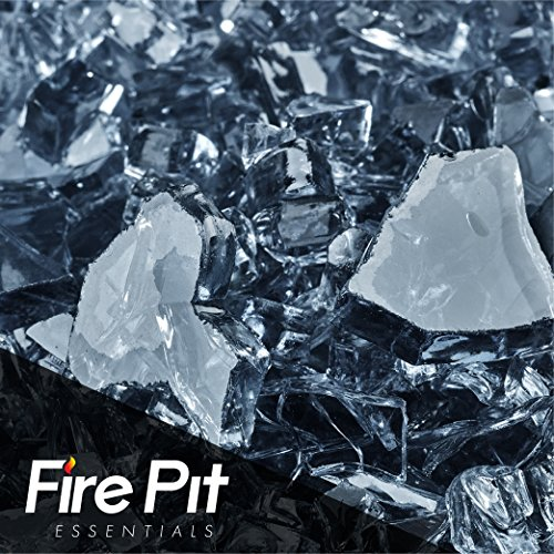 Steel Blue Fire Glass 1/4'' Firepit Glass 10 Pounds Great for Fire Pit Fireglass or Fireplace Glass by Fire Pit Essentials