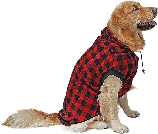 PAWZ Road Large Dog Plaid Shirt Coat
