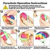 VAMEI 4 Pack Rainbow Parachute Toys Tangle Free