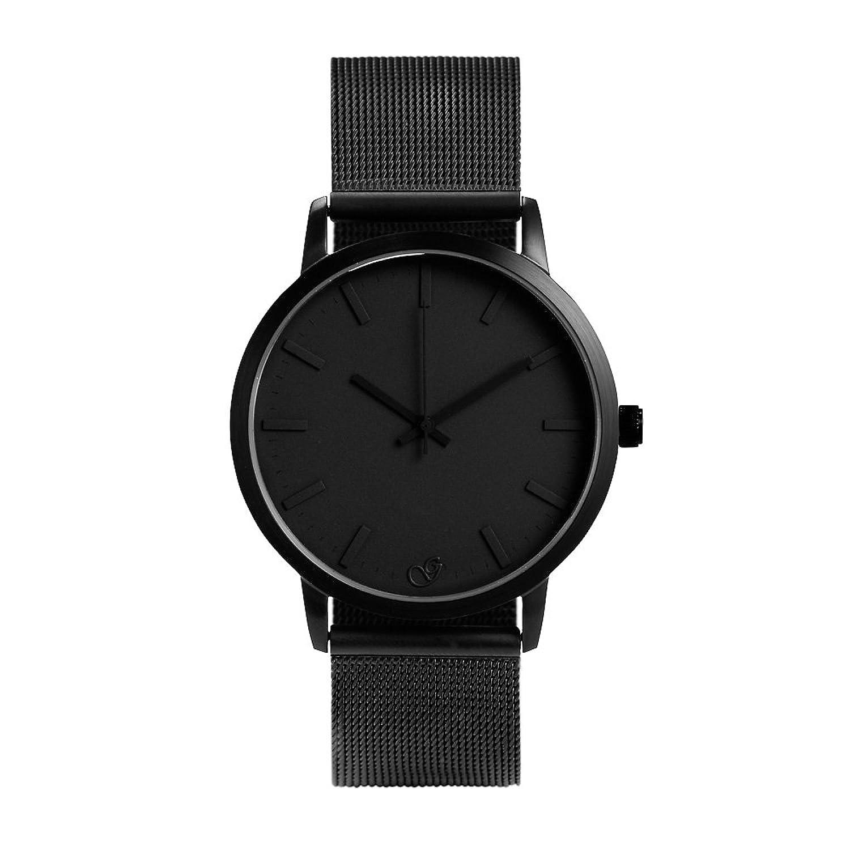 Gaxs Watches Jamming Joe Mesh Herren Armbanduhr schwarz mit Mesh Edelstahl Armband