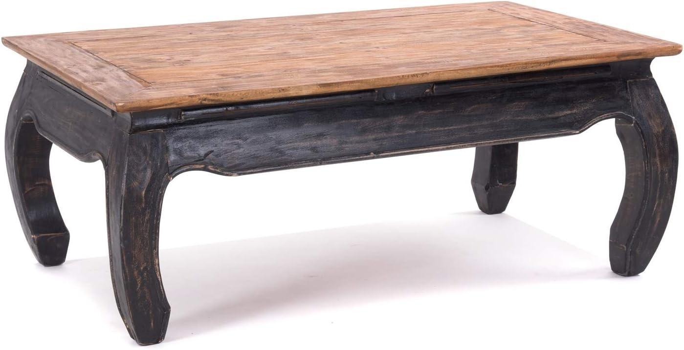 100x60x41cm BxTxH Mahagoni Recyclingholz Farbe: 02 Hellbraun Couchtisch aus Vollholz Beistelltisch Design OPIUMTISCH East