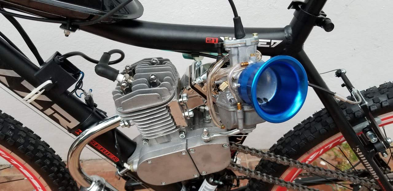 Zeda PK 80CC Bicycle Engine Kit with Window Piston 36 Tooth Sprocket Standard 44 Tooth Available. Dio Reed Valve /& OKO Carburetor