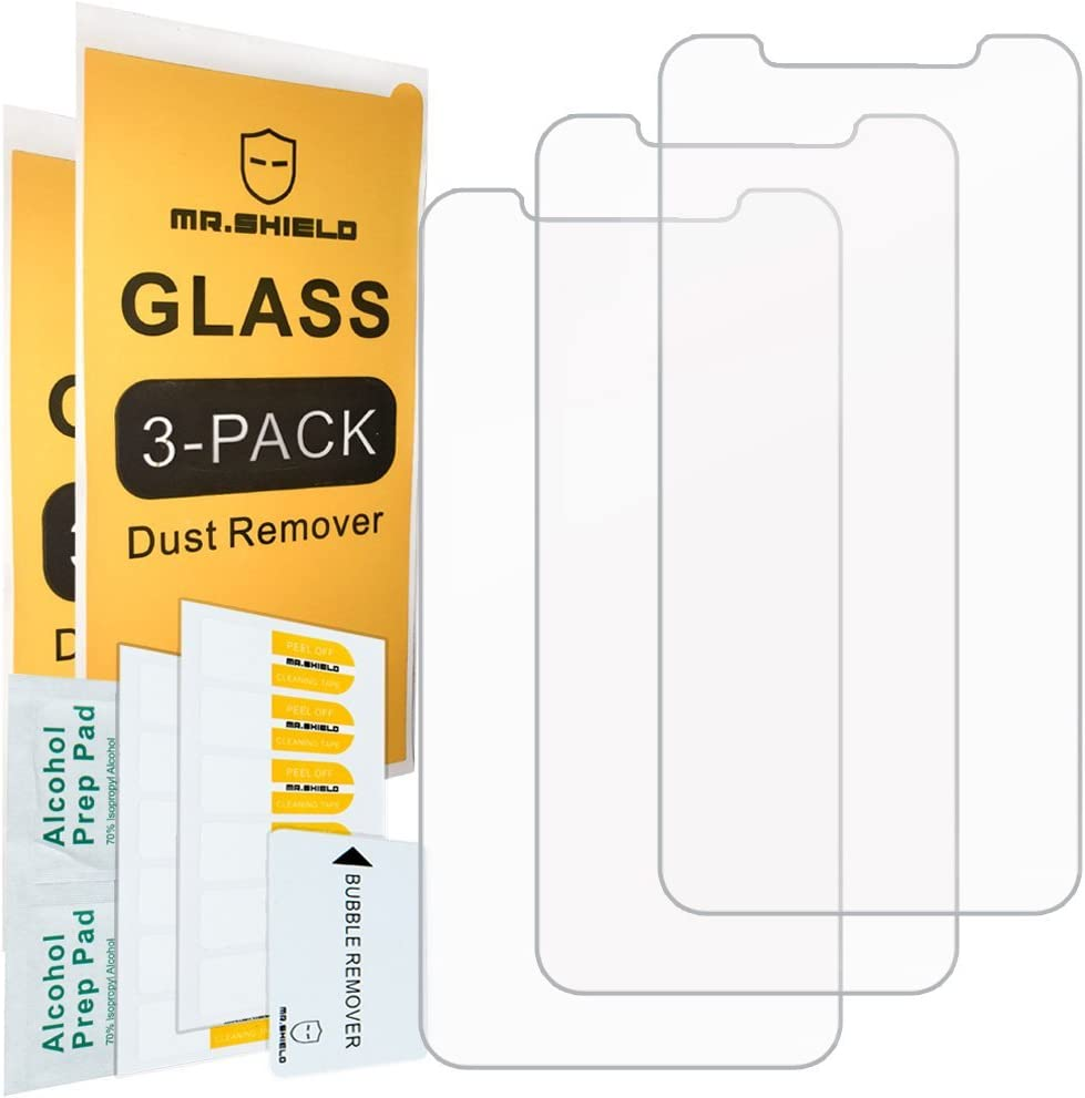 [3-PACK]- Mr.Shield For iPhone X/iPhone Xs/iPhone 11 Pro [Tempered Glass] Screen Protector [Japan Glass With 9H Hardness] with Lifetime Replacement
