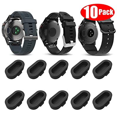 Miimall [10 Pack Black] Compatible Garmin Venu Charger Port Protector, Silicone Anti-dust Plugs Caps Anti Dust Plug for Garmin Instinct/Fenix 6 / 6S / 6X: Sports & Outdoors