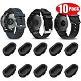 Miimall [10 Pack Black] Compatible Garmin Forerunner 935/945/245/45/45S Charger Port Protector, Silicone Anti-dust Plugs…