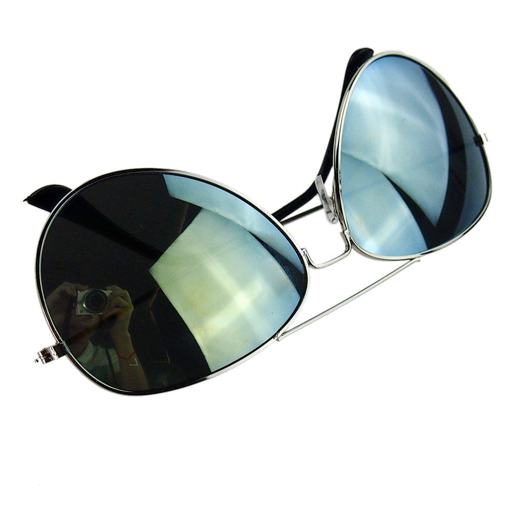 LUFA Lunettes de soleil réfléchissant Objectif Métal + résine UV400 SilverFreen & BlueLens zlXRpks