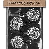 Dress My Cupcake Chocolate Candy Mold, Sunflower Lollipop