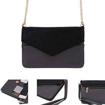 Conze Mujer embrague cartera todo bolsa con correas de hombro para Smartphone para Panasonic Eluga Arc/2 gris gris: Amazon.es: Informática