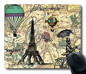 """Custom & Personalized Paris Vintage Collage Mouse Pads/Mats-Picture Printed Rectangle/Oblong Mousepad in 7""""*9"""""""