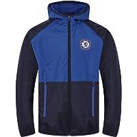 Chelsea FC - Chaqueta cortavientos oficial - Para niño - Impermeable - Estilo retro