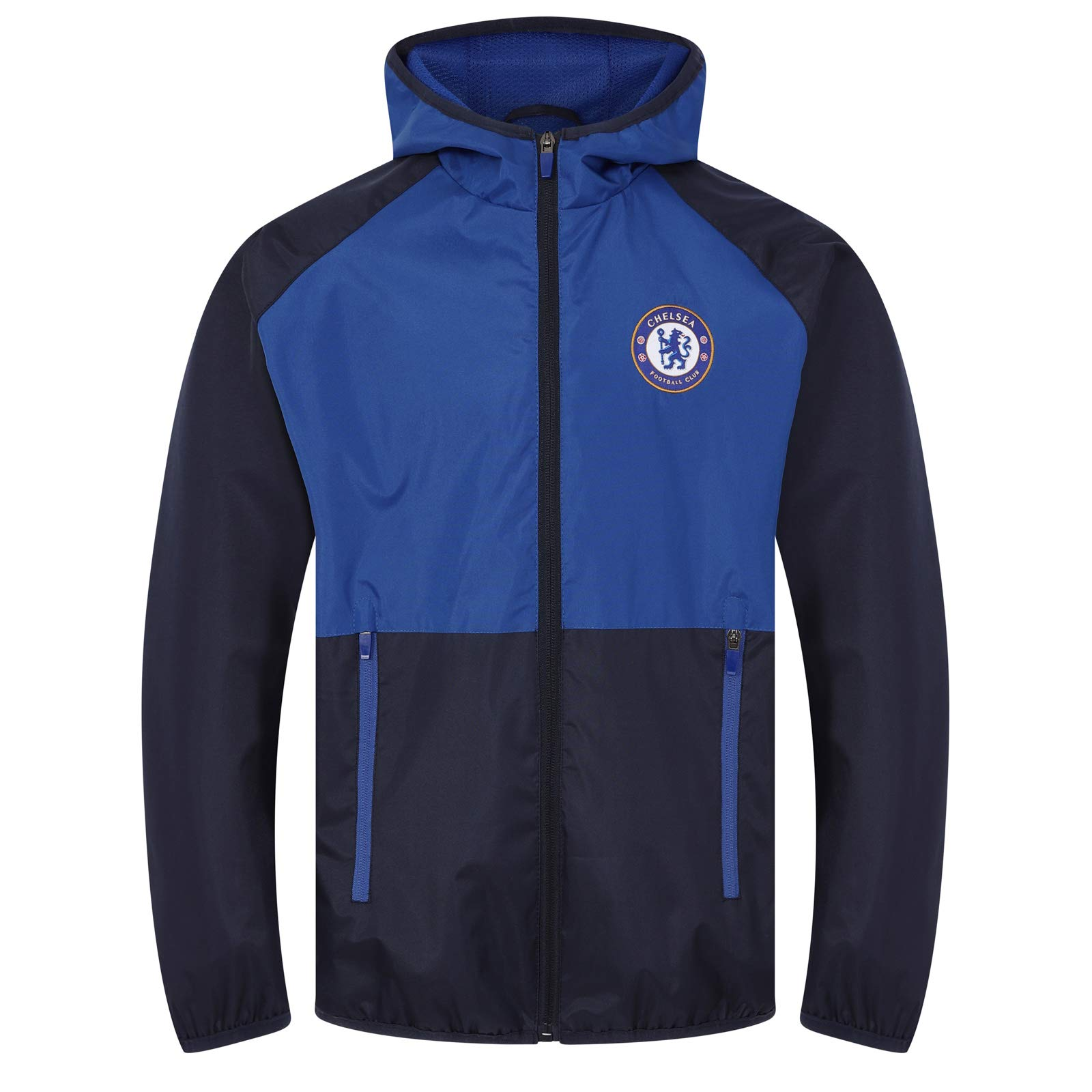 Chelsea FC Official Soccer Gift Boys Shower Jacket Windbreaker Navy 12-13 Yrs