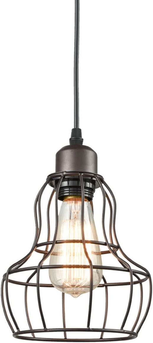 Toltec Lighting 23-BRZ-750 Stem Mini-Pendant Light Bronze Finish with Amber Crystal Glass, 7-Inch
