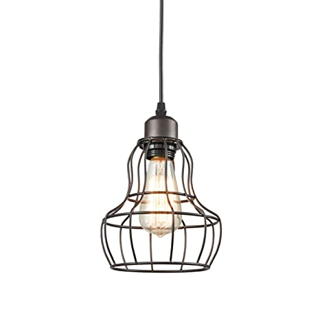 Yobo lighting minimalist 1 light oil rubbed bronze hanging pendant yobo lighting minimalist 1 light oil rubbed bronze hanging pendant light loft wire cage guard keyboard keysfo Gallery