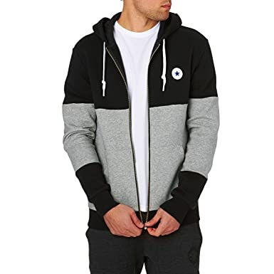0b4af79f351b Converse Black Grey Mix Zip-Up Hoody Sweat 10004628 XX-Large  Amazon.co.uk   Clothing