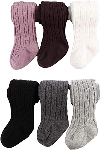 Baby Girls Tights Cotton Baby Leggings Bowknot Cable Knit Tights for Toddlers Infant Stockings