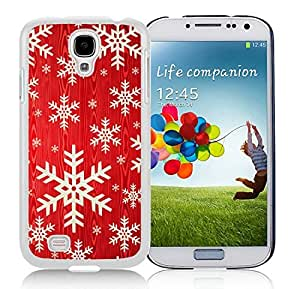 Personalize offerings Samsung S4 TPU Protective Skin Cover Red Background With Snowflakes White Samsung Galaxy S4 i9500 Case 1