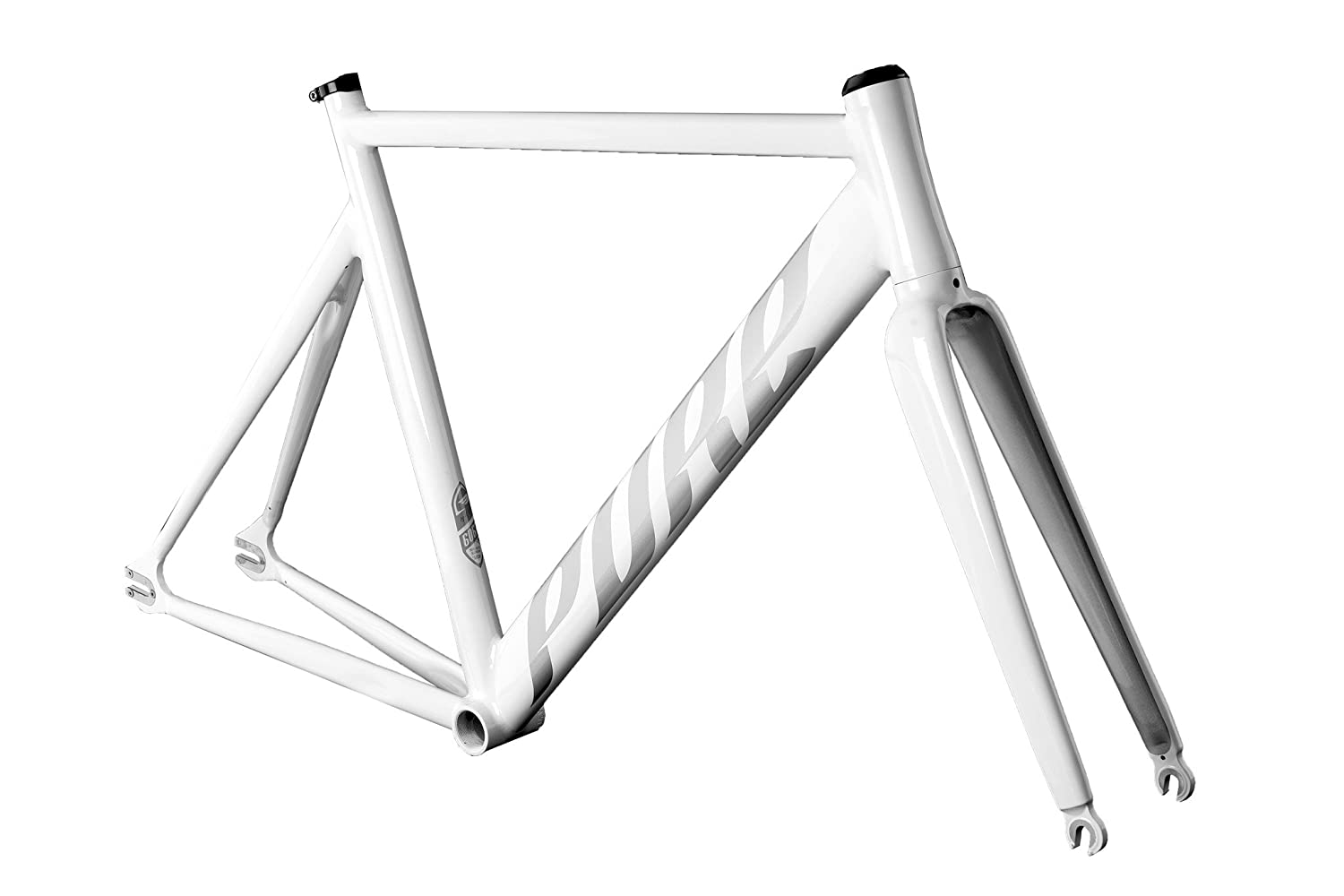 Pure Cycles Keirin Pro Track Triple-Butted 6061 Aluminum Bike Frameset, Gloss White, 52cm/Small KeirinPro-White-52cm