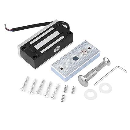 Cerradura Magnética Eléctrica de 60 KG, Fuerza de Retención Cerradura Electromagnética para Control de Acceso