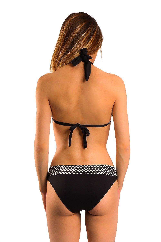 04b432229e Carla-Bikini Maillot de Bain Triangle Charm Valentine's Noir: Amazon.fr:  Vêtements et accessoires