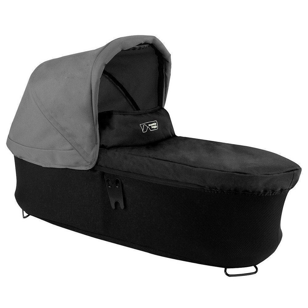Mountain Buggy Carrycot Plus for Duet Double Stroller with Sunhood, Flint by Mountain Buggy (Image #1)