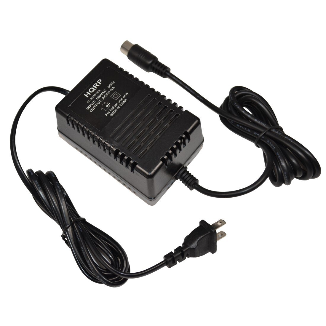 HQRP 9V AC Adapter for Alesis P4 AC09 25D 4-pin DIN Connector 9V AC Power Supply Replacement fits QSR DMPro drum machine MIDI Data Disk Quadraverb GT Quadraverb Quadraverb 2 S4 + Euro Plug
