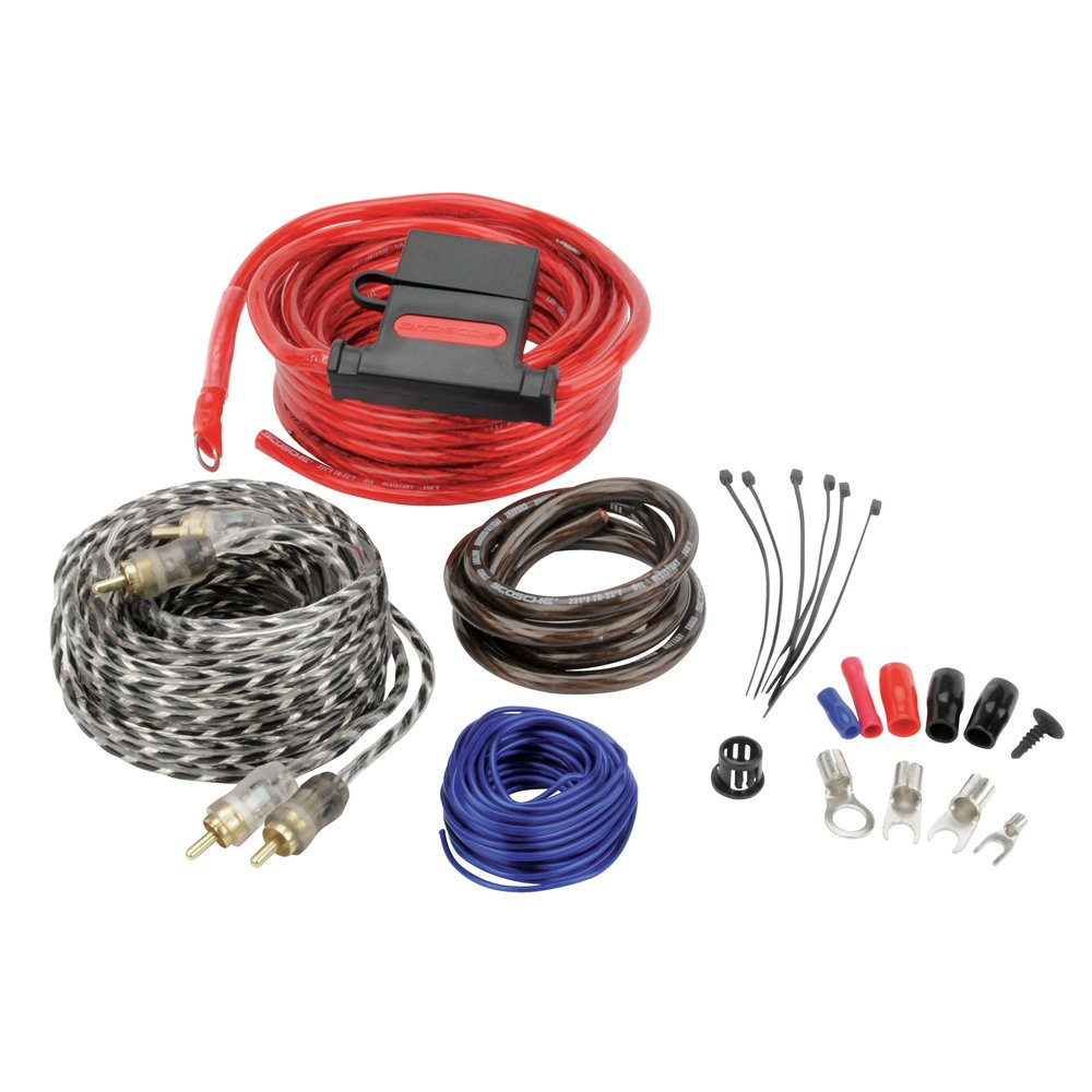Scosche Kpa8a 680 Watt 8 Gauge Wiring Kit For Single Amplifier Speakers Subwoofers Automotive Amps Car Electronics