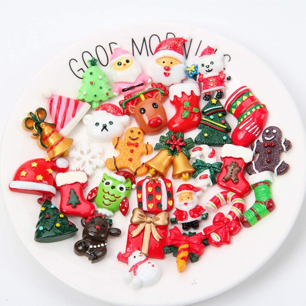 Leoie 100pcs/Set Artificial Food Lollipop Candy Decor Figurine Toys Dollhouse DIY Phone Case Accessories Christmas DIY 100pcs