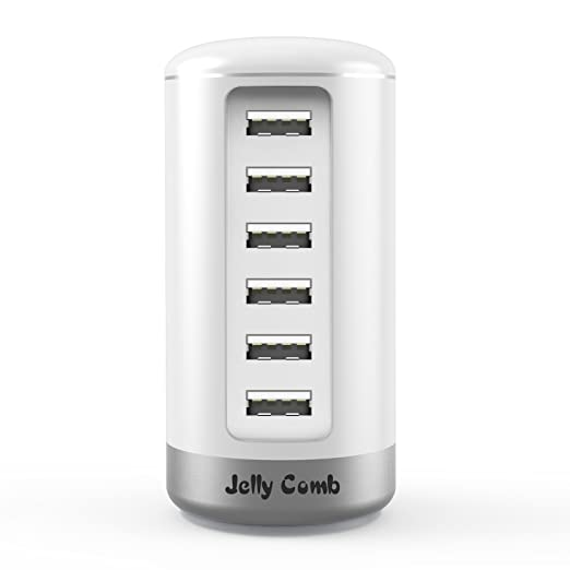 17 opinioni per CoJoie Caricabatterie USB da muro viaggio 30W / 6A con 6 porte USB, Intelligente