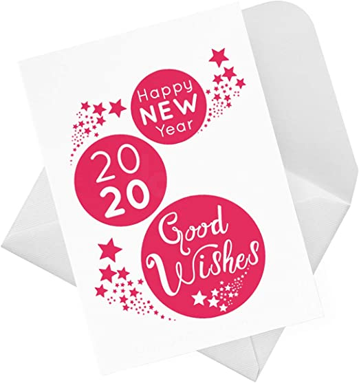 Happy New Year Cards pk of 6 cards /& envelopes Multi buy discounts available