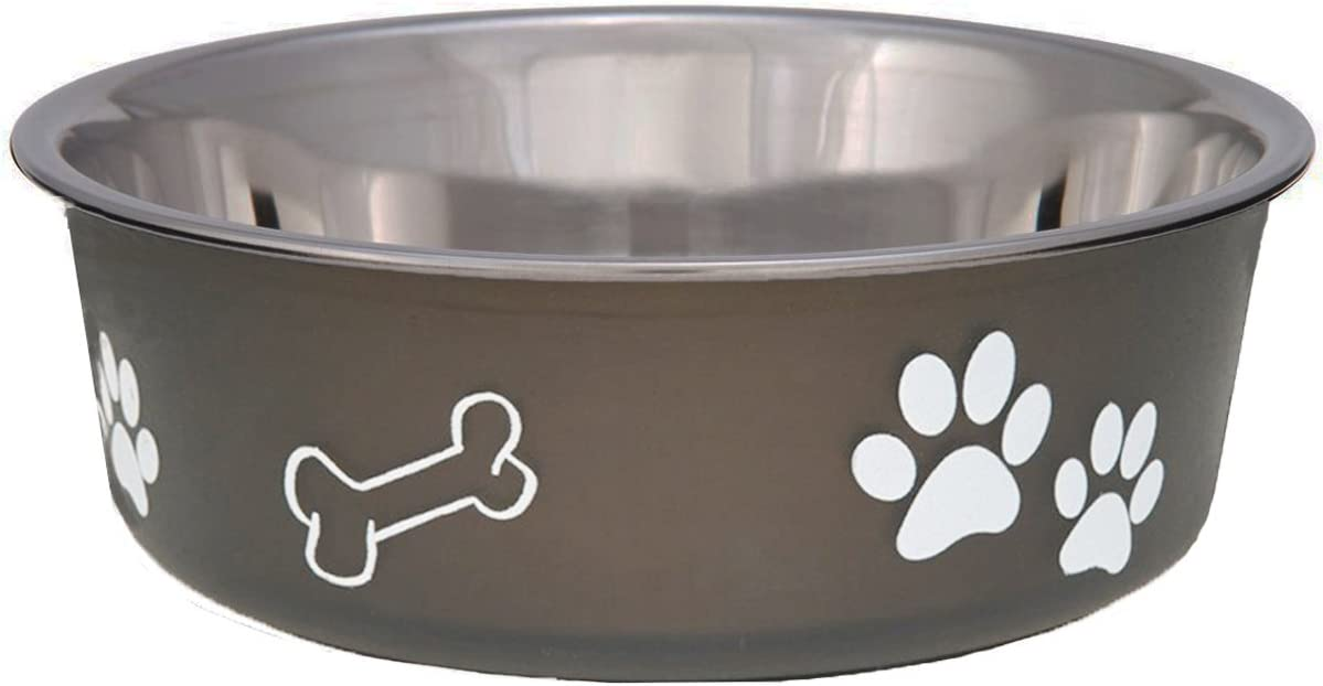 Loving Pets Bella Bowl for Dogs, Medium, Espresso