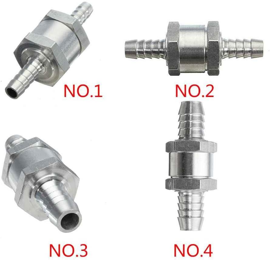 8mm 10mm 12mm Benzina Diesel Non Ritorno Valvola di Accessori Auto Regard 5pcs in Lega di Alluminio per Automobili One Way Fuel valvola di ritegno 6mm